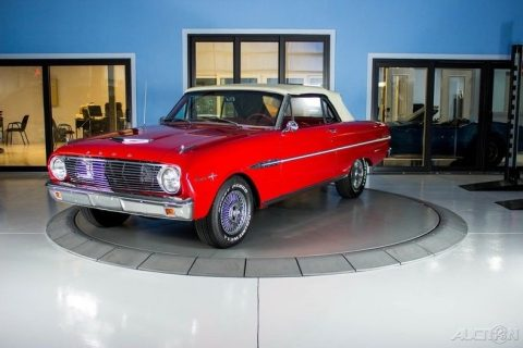 1963 Ford Falcon Sprint Red on Red Convertible with a white soft top for sale